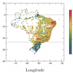Spatial patterns of dengue cases in Brazil